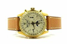 ULYSSE NARDIN 4355J R730 MANUAL WIND CHRONO MOON PHASE 18KT YELLOW GOLD WATCH
