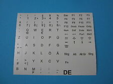 Tastaturaufkleber für Notebook Deutsch QWERTZ Hell Grau für 86 Tasten DE PÜÖÄ