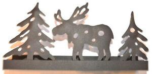 Lantern Tealight Holder Decoration Reindeer Braun Metal Advent Christmas