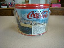 COCA COLA TIN CAN WITH HANDLE