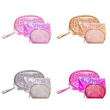 3 un./Set Bolsa de Cosméticos de maquillaje Lavable Transparente Bolsas De Almacenamiento Organizador De Cremallera Regalo