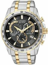 NEW! CITIZEN AT4004-52E MENS ECO- DRIVE TWO TONE PERPETUAL CALENDAR ATOMIC BLACK