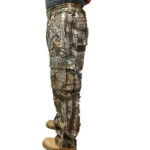 Plus Size Men Outdoor Camo Hunting Long Trousers Bionic Camouflage Cotton Pants