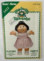 1985 Size 7-10 Cabbage Patch Kids Jumpsuit with Matching Doll Outfit and Transfer Butterick 3085 Vintage Uncut Sewing Pattern