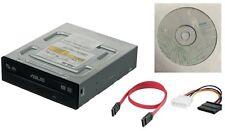 ASUS 24x Internal SATA CD-RW DVD±RW DL BURNER Re-WRITER w/ DATA + POWER CABLE