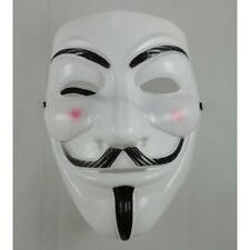 Masque Anonymous Guy Fawkes V pour Vendetta Blanc Gilet Jaune Adulte