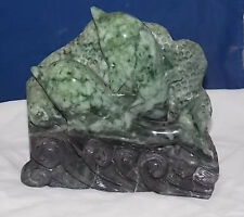 California Jade Dolphin Carving