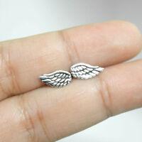 Pair of new Earrings Wings Stud 925 Silver Sterling Angel Ear Jewelry Women