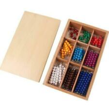 Montessori Materials Educational Wooden Colorful Checkerboard Beads Math Toys