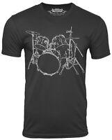 Drums Cool  Musician T-shirt Drummer Tee Drum set Cool Shirt