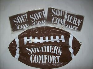 Lot of 4 Large Southern Comfort Inflatable / Blow Up Football