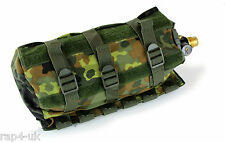 MOLLE orizzontale CO2 Air Tank Pouch (Medio) (Tedesco Flecktarn) [ E8 ]