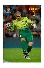 FC BARCELONA POSTER VICTOR VALDES IN ACTION