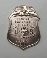 ZP474 FBI Collector Badge Self Adhesive back Unusual