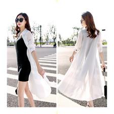 Summer Women Chiffon Long UV Sun Protection Maxi Dress Jacket Coat Clever Slim