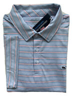 VINEYARD VINES Mens Lakeworth Stripe Sankaty Performance Polo NWT LARGE XL