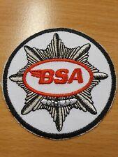 patch thermocollant brodé moto BSA 7cm