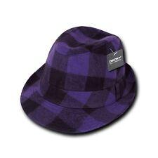 Decky New Acrylic Plaid Lightweight Fedora Fedoras Trilby Panama Hats Hat
