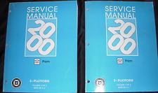 2000 GM Chevrolet Chevy GEO PRIZM Service Shop Workshop Repair Manual Set OEM