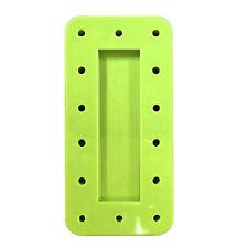 4X Green Rectangle Magnetic Dental Bur Stands Block Holder Station 14 Hole New