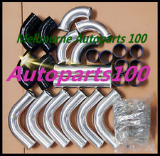 """For Universal Intercooler 3"""" 76mm Aluminum pipe and Black hose T-Clamp kits"""