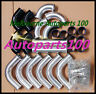 "2.5"" 63mm Aluminum Universal Intercooler Turbo Piping + Black hose+ T-Clamp kits"