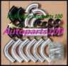"2"" 51mm Aluminum Universal Intercooler Turbo Piping Black hose T-Clamp kit 12pcs"
