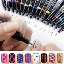 16 Colores Nail Art Pluma Pintura Dibujo UV Gel Polaca Uñas Manicura Bolígrafo
