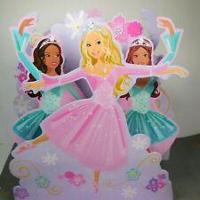"""Barbie Centerpiece Girls Birthday Party Decoration 12.5"""" Ballerinas Pink Purple"""
