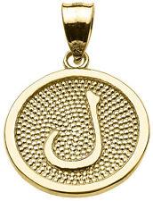 "14k Yellow Gold Arabic Letter ""laam"" L Initial Charm Pendant"