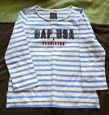 Baby Gap Pendleton Long Sleeve Top White with Blue Stripes Size 3 Years