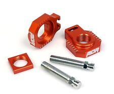 KTM 450 EXC-F 2005-2012 MDR Orange Rear Axel Blocks & Adjuster