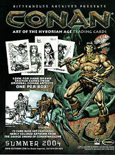 CONAN ART OF THE HYBORIAN SELL SHEET
