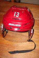 ARIZONA COYOTES Peter Holland game-worn red home Bauer #13 helmet (2016-2017)