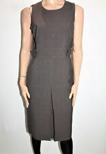 BASQUE Brand Women's Brown Tweed Sleeveless Fitted Dress Size 12 BNWT #TO100