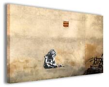 Quadri famosi Banksy XVIII stampe riproduzioni su tela copia falso d'autore