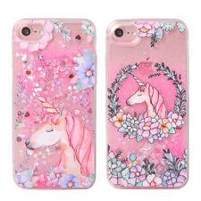 Fundas Unicornio Rosa amor Liquido Dinamico Iphone X, 5/5S,6/6S,6+/6S+,7/7+,8/8+