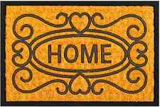Welcome HOME Natural coconut fibers / Recycled Rubber Outdoor Entrance Door Mat