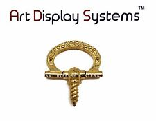 Art Display Systems Small Brass Floral Decorative Hanger – Pro Quality – 15 Pack