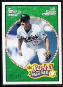2005 Upper Deck Baseball Heroes Emerald 11 Cal Ripken Jr. 142/199