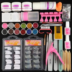 6 colors UV Hard Builder Gel Glitter Soak Off Gel Polish Nail art DIY Brush Set