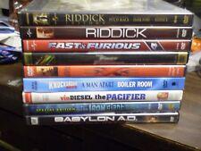 (13) Vin Diesel DVD Lot: (2) Fast & Furious (4) Riddick XXX Babylon AD Pacifier