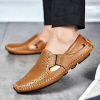 Men's Driving Casual Leather Shoes Lazy Peas Breathable Moccasins Loafers