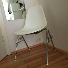 Vitra Eames Plastic Side Chair DSS Stuhl Sitzschale weiß white Chrom Gestell