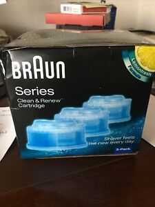 Braun CCR3 Clean and Remens Electric Shaver Hygienic Refill Cartridges