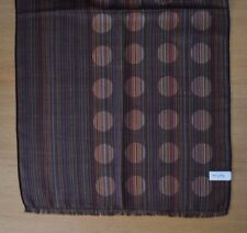 PAUL SMITH Signature Stripe & overdyed black spot scarf scarve
