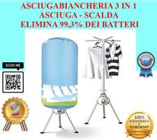 2 IN 1 ASCIUGA BIANCHERIA SCALDINO PORTATILE ELIMINA 99,3% DEI BATTERI A 70GRADI