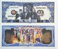 RARE: DOCTOR WHO $1,000,000 Novelty Note, TV Shows Buy 5 Get one FREE