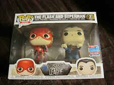 FUNKO POP! HEROES THE FLASH AND SUPERMAN VINYL FIGURES 2 PACK--NEW--UNOPENED