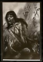 VENGEANCE OF VAMPIRELLA #3 LUCIO PARRILLO BLACK WHITE VIRGIN VARIANT NM 2019